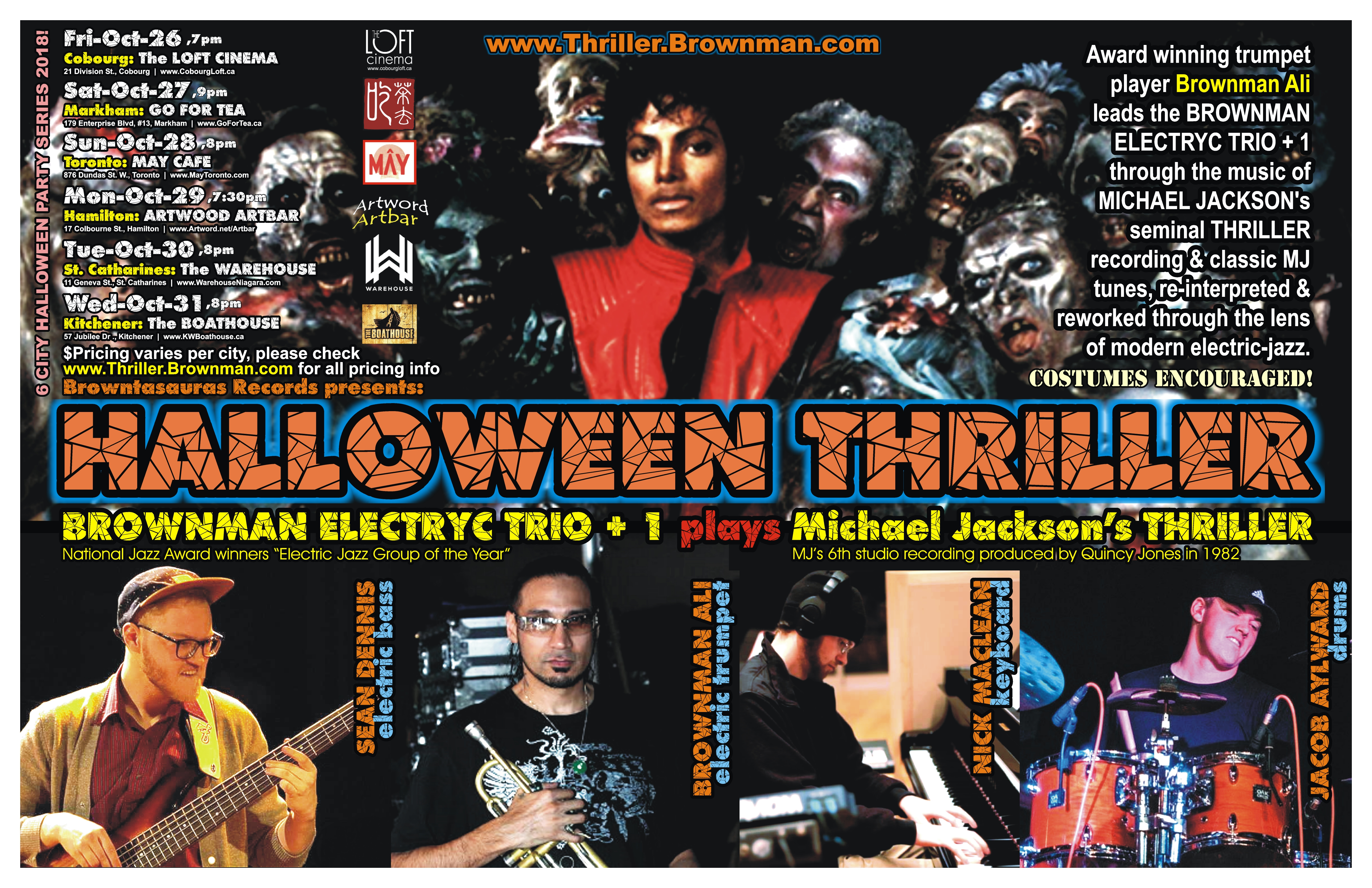 Brownman S Halloween Thriller 2018 The Music Of Micheal Jackson
